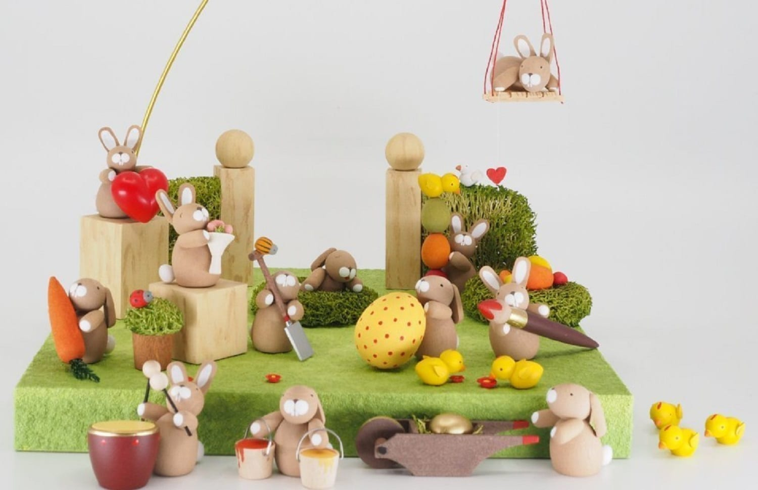 German Wooden Easter Decorations – The German Christmas Shop at Easter