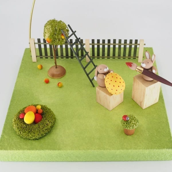 wooden easter decorations