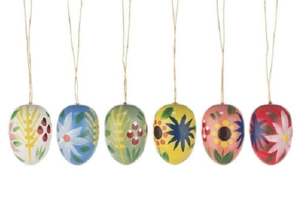 wooden easter tree ornaments