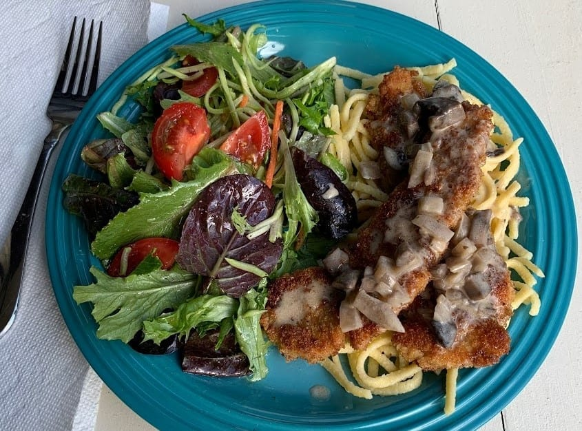 How to Make Chicken Schnitzel with Mushroom Sauce
