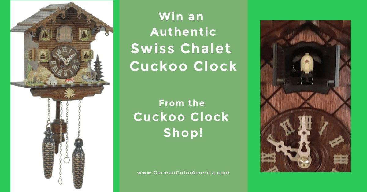 Cuckoo Clock Shop Swiss Chalet Cuckoo Clock Giveaway!