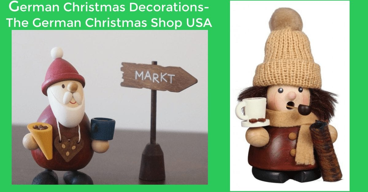 Wooden German Christmas Decorations from the German Christmas Shop USA