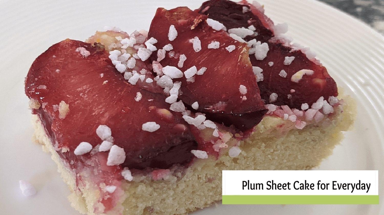 German Plum Sheet Cake Recipe for Everyday