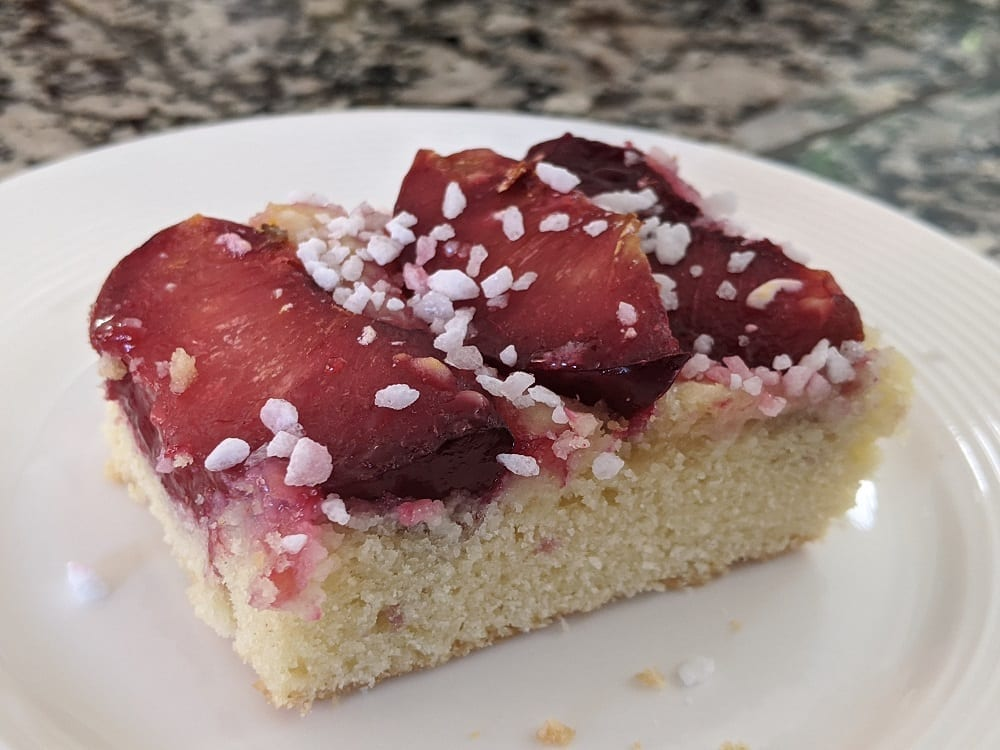 german plum sheet cake