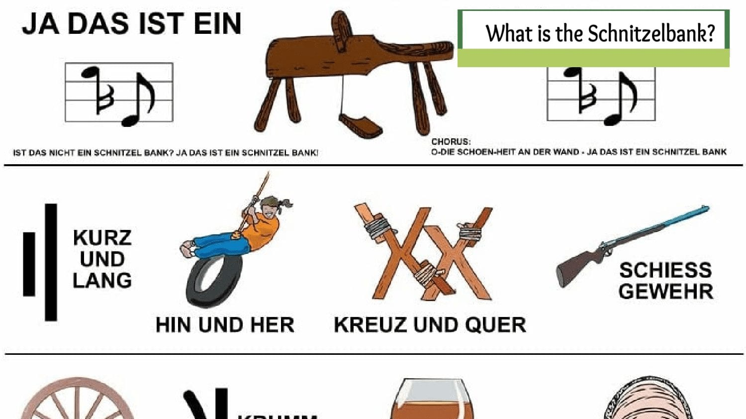 What is a Schnitzelbank- A Bench and a Funny Song