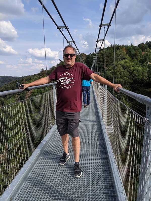 longest pedestrian suspension bridge in germany