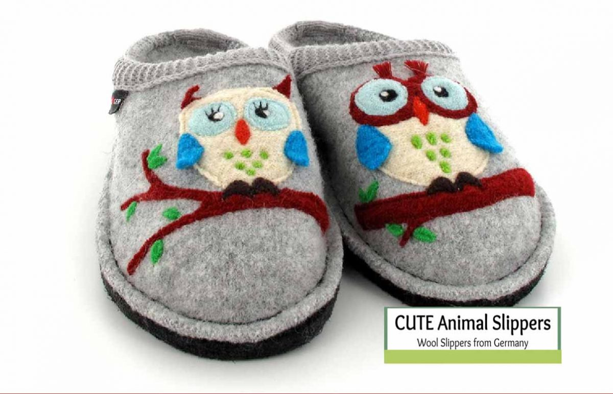 animal slippers for women