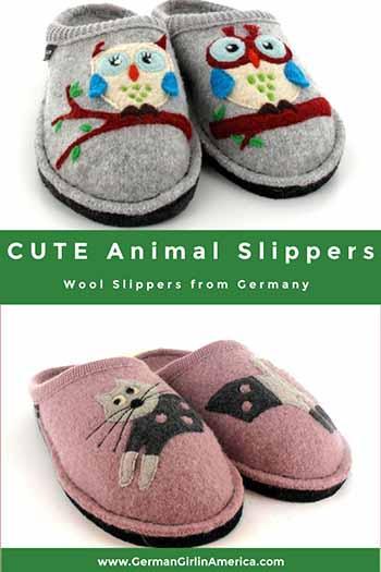 animal slippers for women