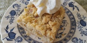 Recipe for Apple Streusel Cake  - A German Style Cake in an American Pan