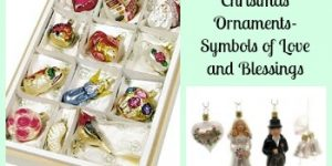 German Bride's Christmas Ornaments- Symbols of Love and Blessings