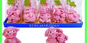 Marzipan Pigs Good Luck -Marzipan Glückschwein