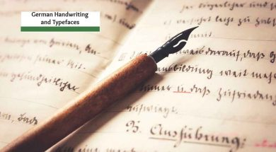 german handwriting and typeface cover
