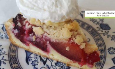 german plum cake recipe cover