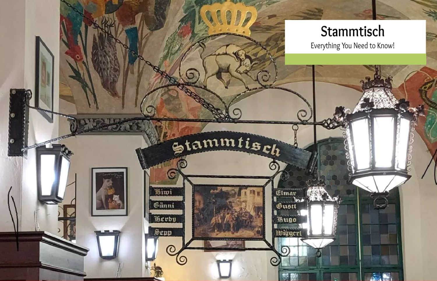 What is a Stammtisch? In Germany, it's a Table for Regulars